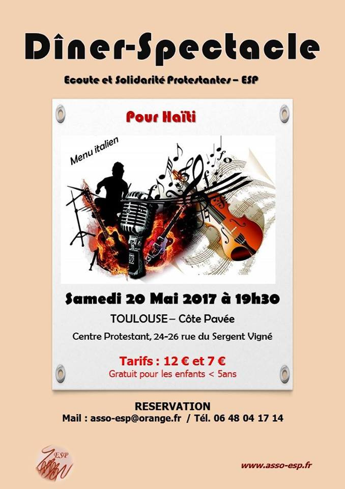 Affiche diner spectacle 20 mai